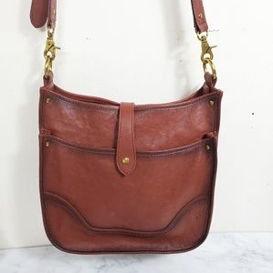 Frye Madison Cognac Crossbody NWT